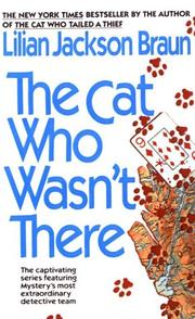 Cover of: The cat who wasn't there