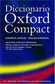 Cover of: Pocket Oxford Spanish dictionary |