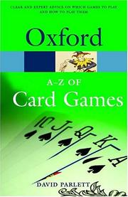 Cover of: The A-Z of card games