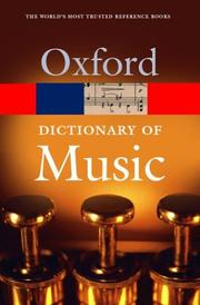 Cover of: The concise Oxford dictionary of music | Kennedy, Michael