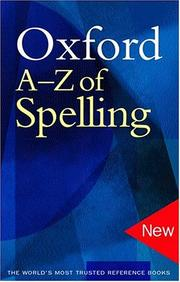 Cover of: Oxford A-Z of spelling | Catherine Soanes