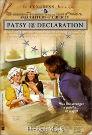 Cover of: Patsy and the Declaration (Daughters of Liberty