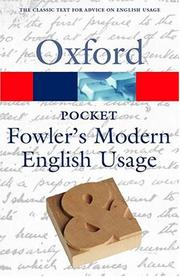 Cover of: Pocket Fowler's Modern English Usage