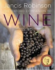 Cover of: The Oxford Companion to Wine | Jancis Robinson