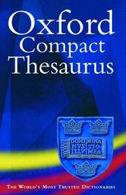 Cover of: Oxford Compact Thesaurus | Maurice Waite