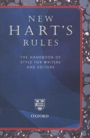 Cover of: New Hart's Rules