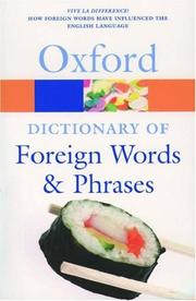 Cover of: The Oxford Dictionary of Foreign Words and Phrases (Oxford Paperback Reference) | Jennifer Speake