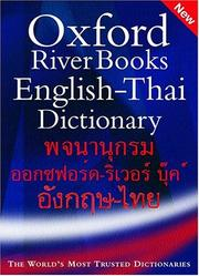 Cover of: Oxford-River Books English-Thai dictionary |