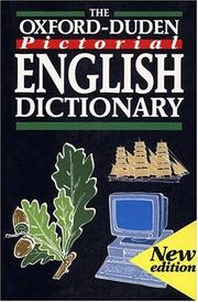Cover of: The Oxford-Duden pictorial English dictionary |