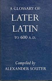 Cover of: Glossary of Later Latin to Ad