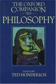 Cover of: The Oxford companion to philosophy | Ted Honderich