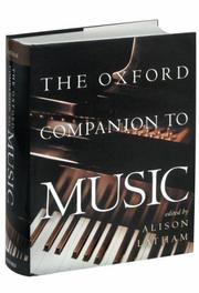 Cover of: The Oxford companion to music |
