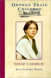 Cover of: David's Search (Orphan Train Children)