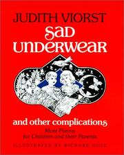 Cover of: Sad Underwear and Other Complications | Judith Viorst