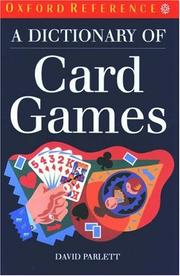 Cover of: A dictionary of card games