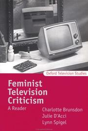 Cover of: Feminist Television Criticism |