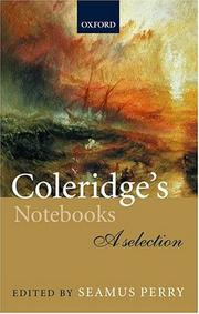 Cover of: Coleridge's notebooks |
