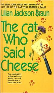 Cover of: Cat Who Said Cheese