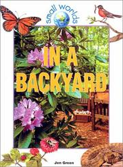 Cover of: In a Backyard (Small Worlds) | Jen Green
