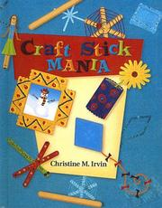 Cover of: Craft Stick Mania | Christine Irvin