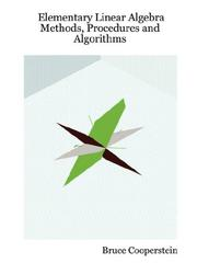 Cover of: Elementary Linear Algebra | Bruce Cooperstein