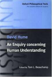 Cover of: An enquiry concerning human understanding