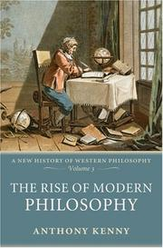 Cover of: The Rise of Modern Philosophy