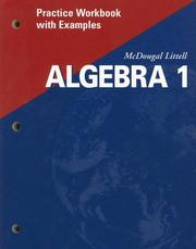 Cover of: Algebra 1 |