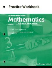 Cover of: Mathematics Concepts And Skills Course 1 Practice Workbook |