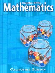 Cover of: Mathematics, California Edition |