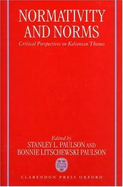 Cover of: Normativity and Norms |