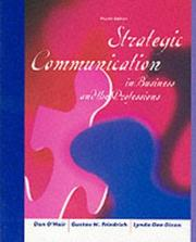 Cover of: Strategic communication in business and the professions
