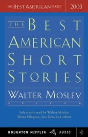 Cover of: The Best American Short Stories 2003 (The Best American Series (TM))