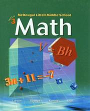 Cover of: McDougal Littell Middle School Math | Ron Larson