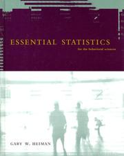 Cover of: Essential Statistics For The Behavioral Sciences