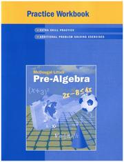 Cover of: Pre-algebra: Practice Book
