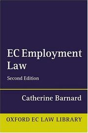 Cover of: EC Employment Law (Oxford European Community Law Library)