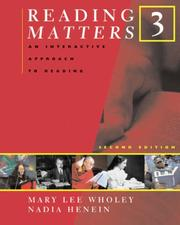 Cover of: Reading Matters 3