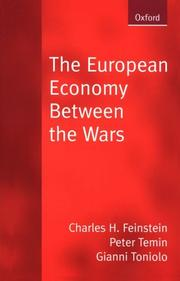 Cover of: European economy between the wars | C. H. Feinstein