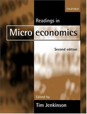 Cover of: Readings in Microeconomics | Tim Jenkinson