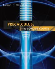 Cover of: Pre-calculus | Ron Larson, Robert P. Hostetler
