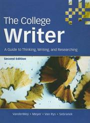 Cover of: The College Writer | Randall Vandermey