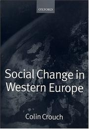 Cover of: Social Change in Western Europe (European Societies)