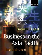 Cover of: Business in Asia-Pacific | Sonia El Kahal