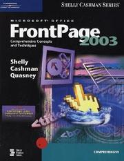 Cover of: Microsoft Office FrontPage 2003 | Gary B. Shelly