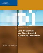 Cover of: An Introduction to Java Programming and Object-Oriented Application Development | Richard Johnson