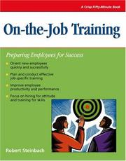 Cover of: On-the-job training | Robert L. Steinbach