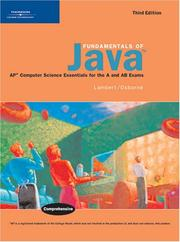 Cover of: Fundamentals of Java | Kenneth Lambert