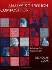 Cover of: Analysis through composition | Nicholas Cook