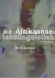 Cover of: Afrikaanse tekslinguistiek
